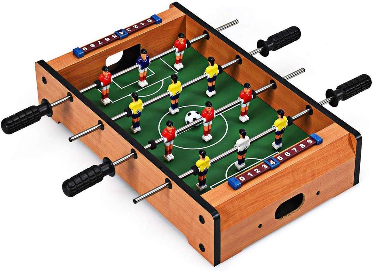 ZXYSHOP Juego de Mesa de fútbol, Juego de Tablero de Madera de Mini competición de fútbol para Principiantes y Jugadores intermedios.: Amazon.es: Hogar