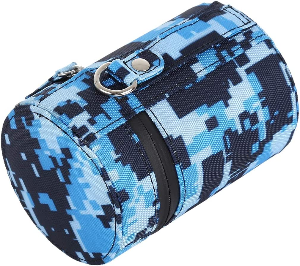 Blue Protective Camera Lens Bag Camouflage Color Small Lens Case Zippered Cloth Pouch Box for DSLR Camera Lens Color : Blue Size: 11x8x8cm