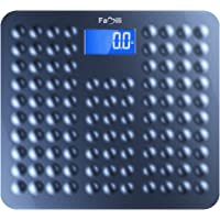 Famili 271B Bathroom Scale Digital Body Weight Scale with Non Slip Design 11lb to 400lb / 5 to 180kg, Blue