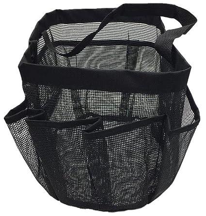 0ae1e1c250f Generic Durable bolsa de ducha caddy secado rápido para colgar bolsa de  malla y organizador de baño con 8 compartimentos ...