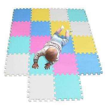 MQIAOHAM Actividades Alfombrillas Bebes colchoneta Foam Goma Infantil Juegos niños para Piezas Suelo 5color2