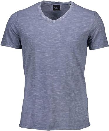 GUESS Jeans M74I65K6920 Camiseta con Las Mangas Cortas Hombre Azzurro D928 2XL: Amazon.es: Ropa y accesorios