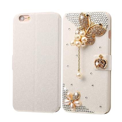 a779f48f7 Winner-us Luxury Diamond Fevelove for iPhone 6 Plus & 6s Plus Diamond  Encrusted Pearl