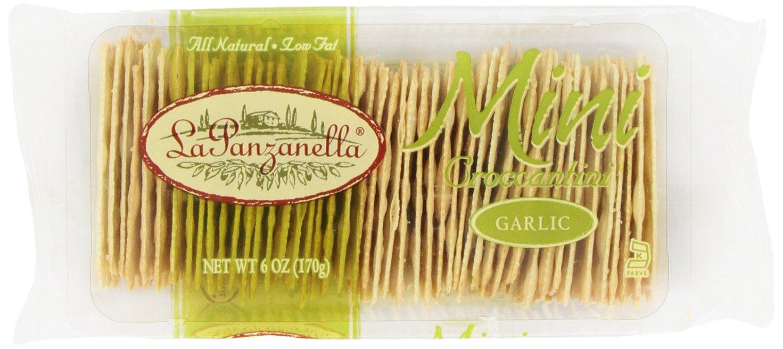 La Panzanella Garlic Mini Croccantini, 6-Ounce Packages (Pack of 6)
