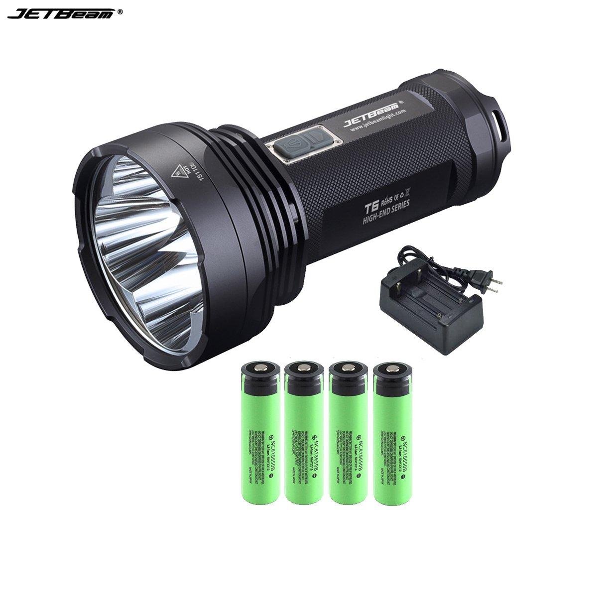 JETBeam T6 Cree XP-L LED 4350 lumens 18650 Flashlight With 3.7v 3400mAh Battery +battery