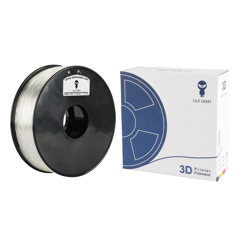 1.75 mm 1.0 kg SainSmart Clear Flexible TPU 3D Printing Filament Dimensional Accuracy +//- 0.05 mm