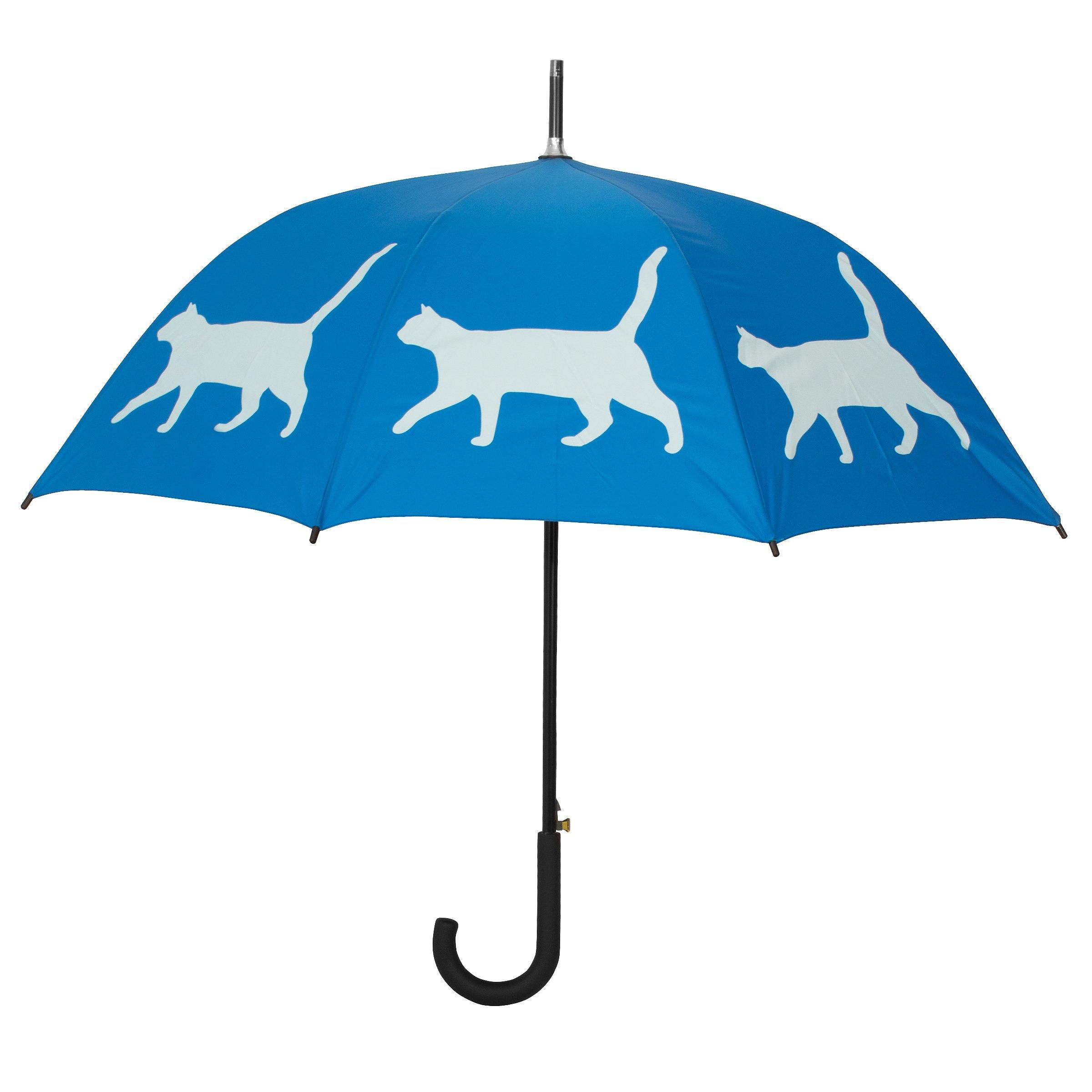 Cat Silhouette Walking Stick Umbrella