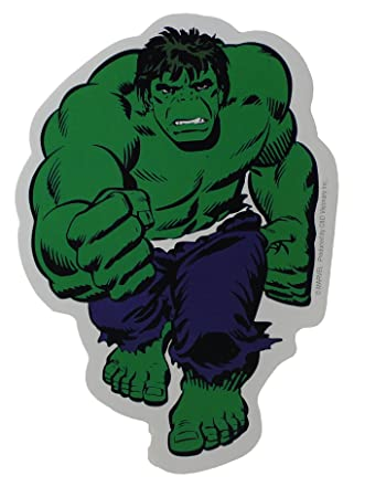 Hulk sticker licensed marvels the avengers comic superhero 5 x 4