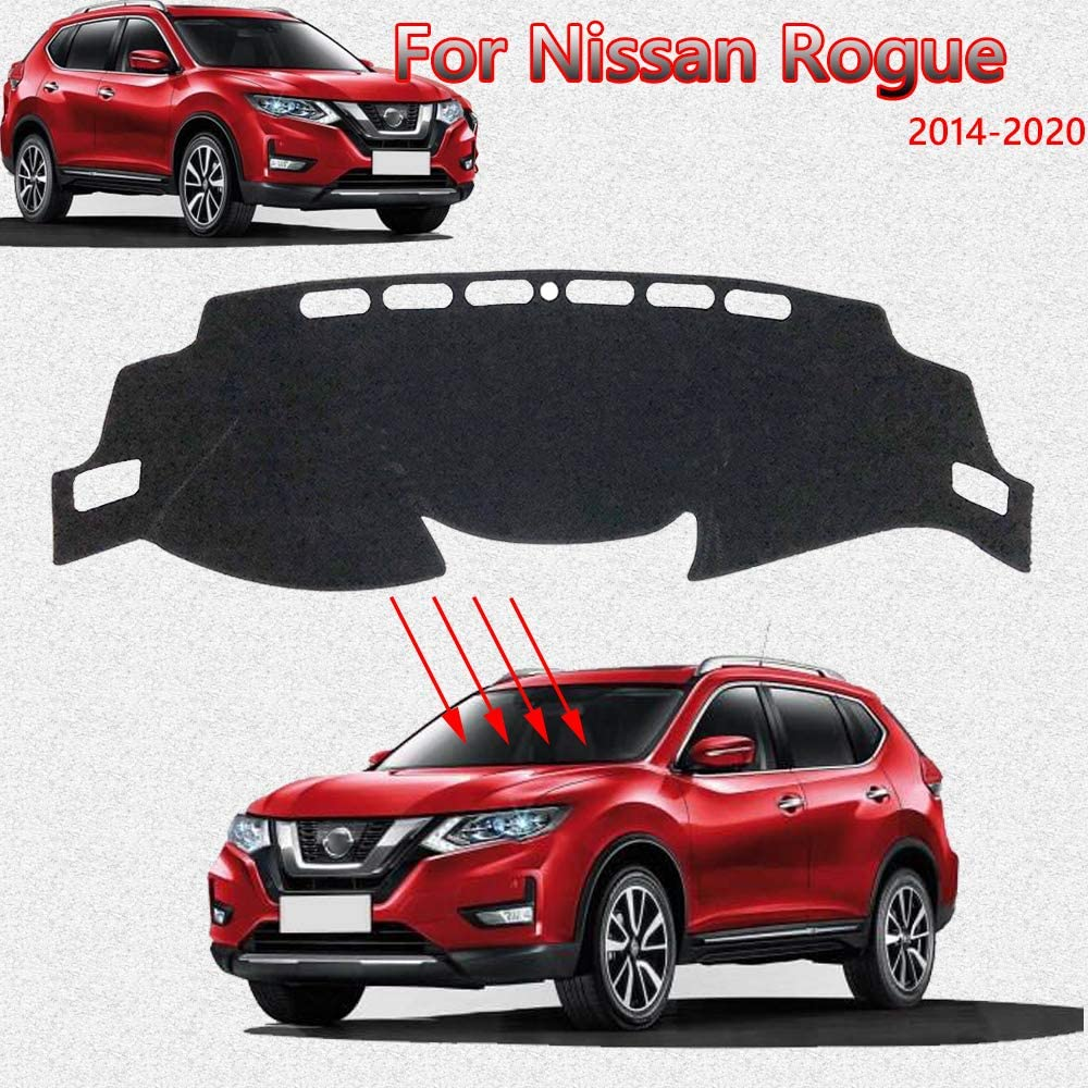 Dash Cover Easy Installation 2014-2020 Eliminates Cracking,for Nissan Rogue Reduces Glare Great-luck Dashboard Cover Mat Custom Fit Dashboard Protector