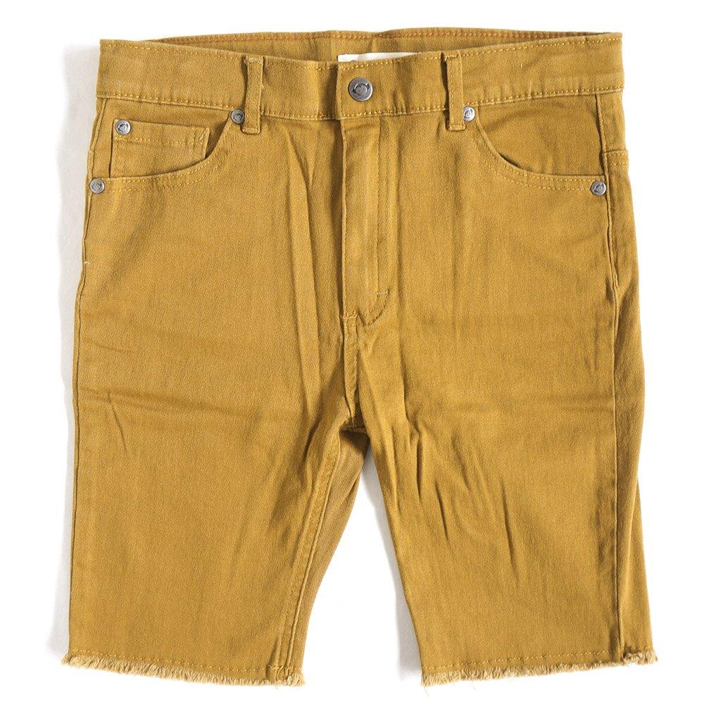 Appaman Kids Baby Boy's Super Soft Raw Edge Punk Shorts (Toddler/Little Kids/Big Kids) Golden Brown Shorts