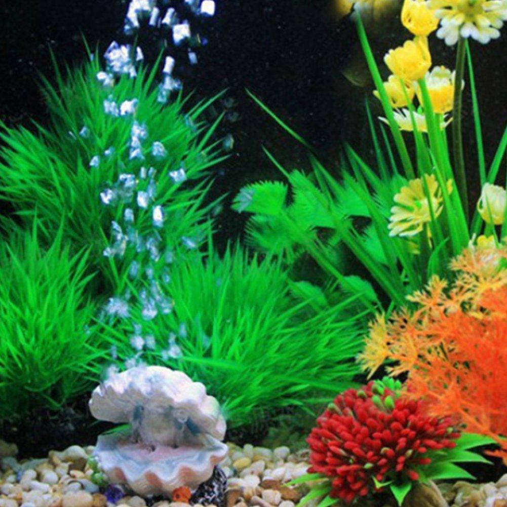 mi ji Concha de Perla Ornamento del Acuario Decoraciones de Coral Decoración del Tanque de Peces de Acuario: Amazon.es: Productos para mascotas