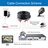 4-Pack 100ft BNC Video and Power Security Camera