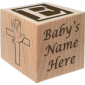Glitzby Personalized Baby Block