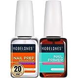 Modelones Nail Prep Dehydrator & Bond Primer, Nail Protein Bond, 20ml Professional Natural Superior Bonding Primer for Acryli