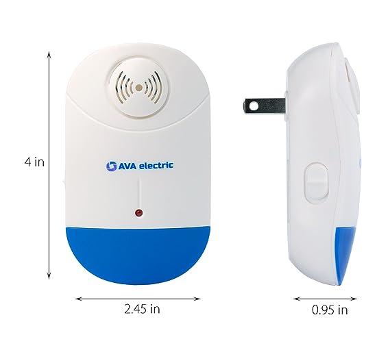 [diseño clásico] Ultrasonic Pest Control Repeller por Ava eléctrico [nueva tecnología] plug-in y luz nocturna para interior - interior de dispositivo de ...