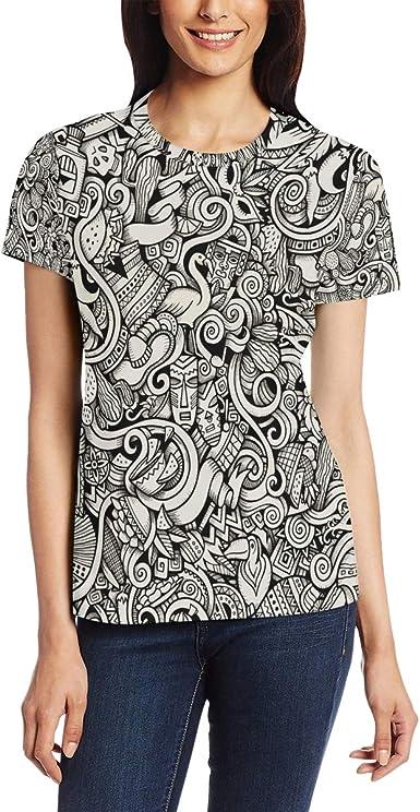 Camiseta para Mujer niñas patrón de Carnaval Color fácil ...