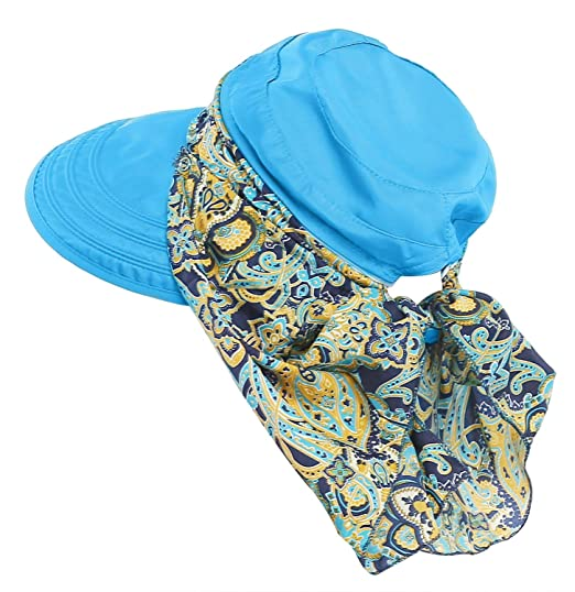 a27cf7dc231 Bellady Wide Large Brim Sun Hat Summer UV Protection Thin Hat 2 in 1 Beach  Sun