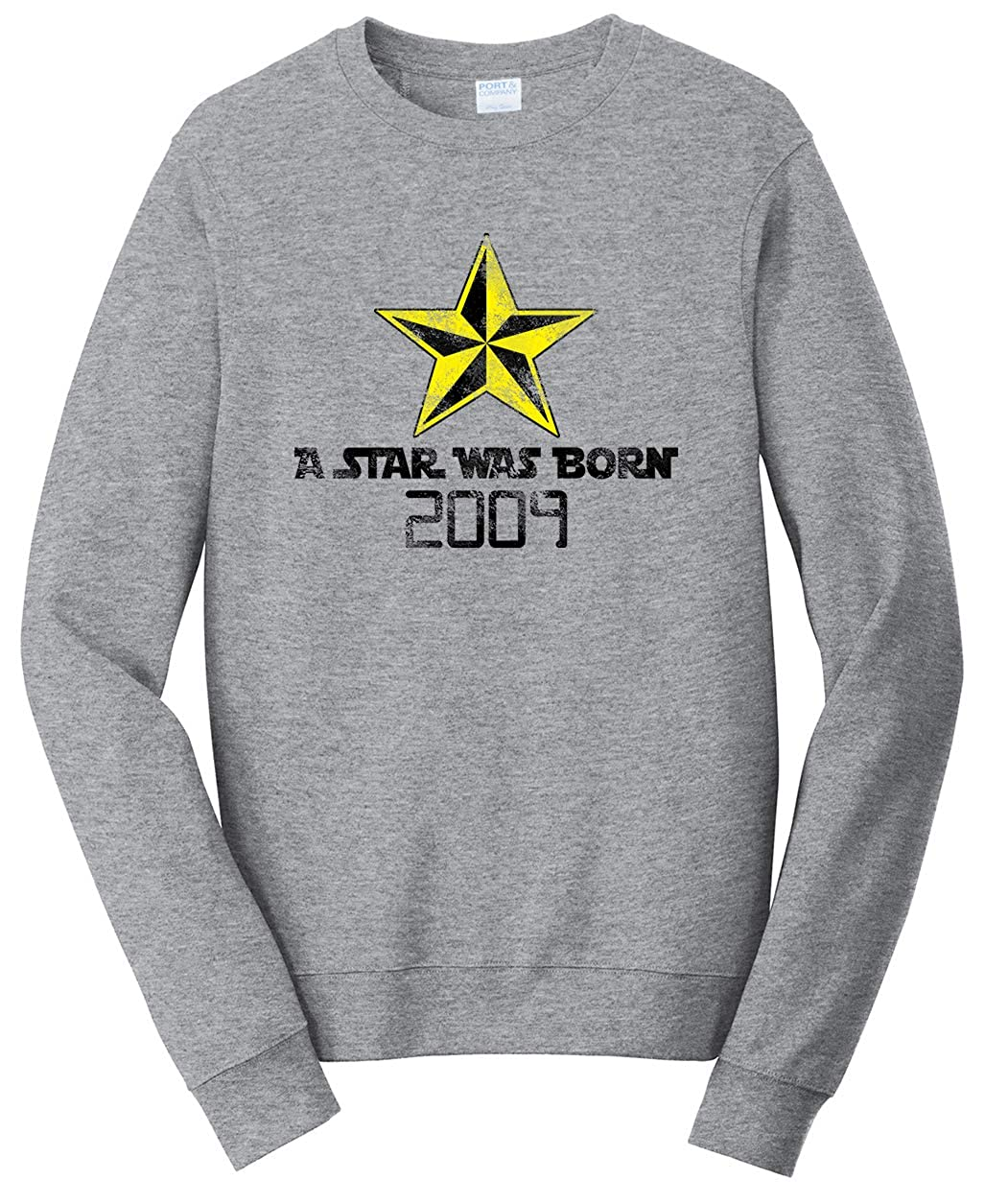 Tenacitee Unisex A Star was Born 2009 Sweatshirt