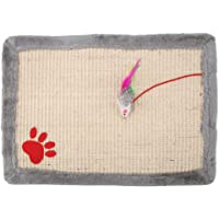 GLOGLOW Katze Kratzbrett, ungiftig Utility Scratcher Praktische Trainingskissen Lead Leash Catnip für kleine Haustiere
