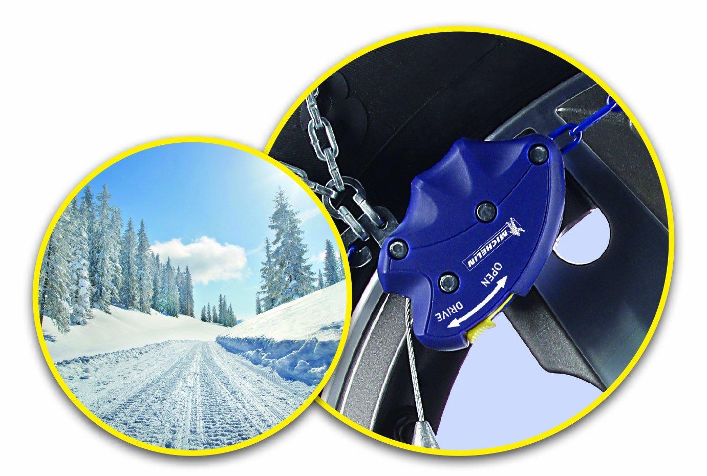 Michelin 92316 Catene da neve M2 aderenza estrema automatica 60 ABS e ESP compatibile T/ÜV//GS e /ÖNORM 2 pezzi