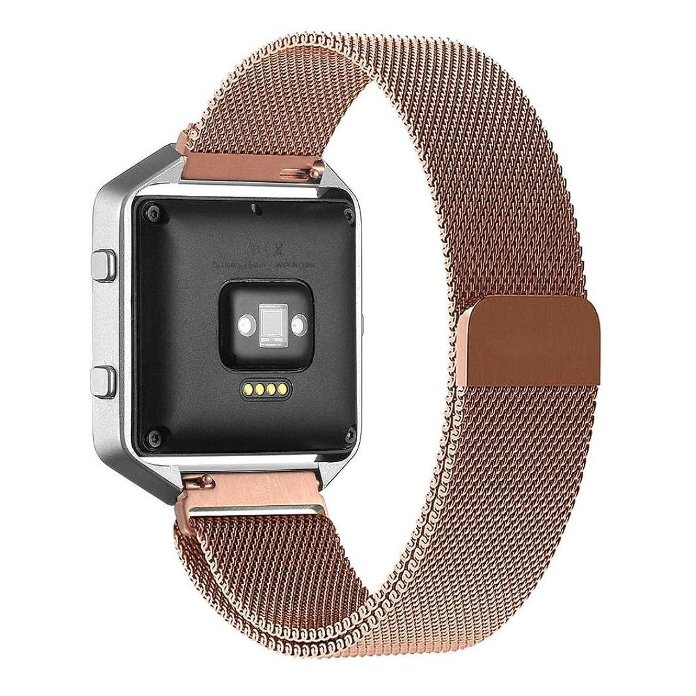 交換用ステンレススチールバンドストラップブレスレットfor Fitbit Blaze Watch by d.b.ムード、9.6インチローズ  B01JUNCKX2