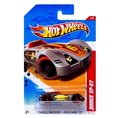 Hot Wheels 2012 Thrill Racers - Volcano 1/5 Dodge XP-07 201/247 (Silver with Red Wheels): Toys & Games