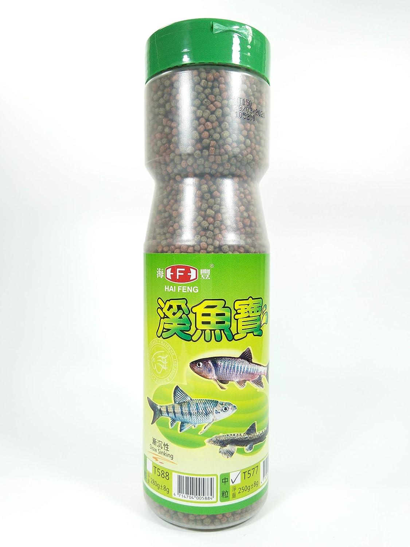 Hai Feng Food 250g for River Fish, Slow Sinking, Medium