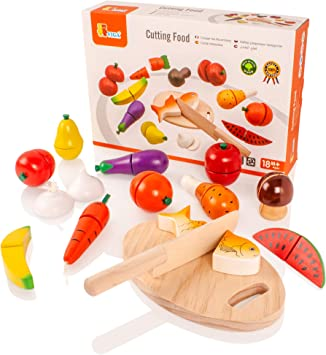 VIGA - Pack de Alimentos de Juguete para Aprender a Cortar: Amazon ...