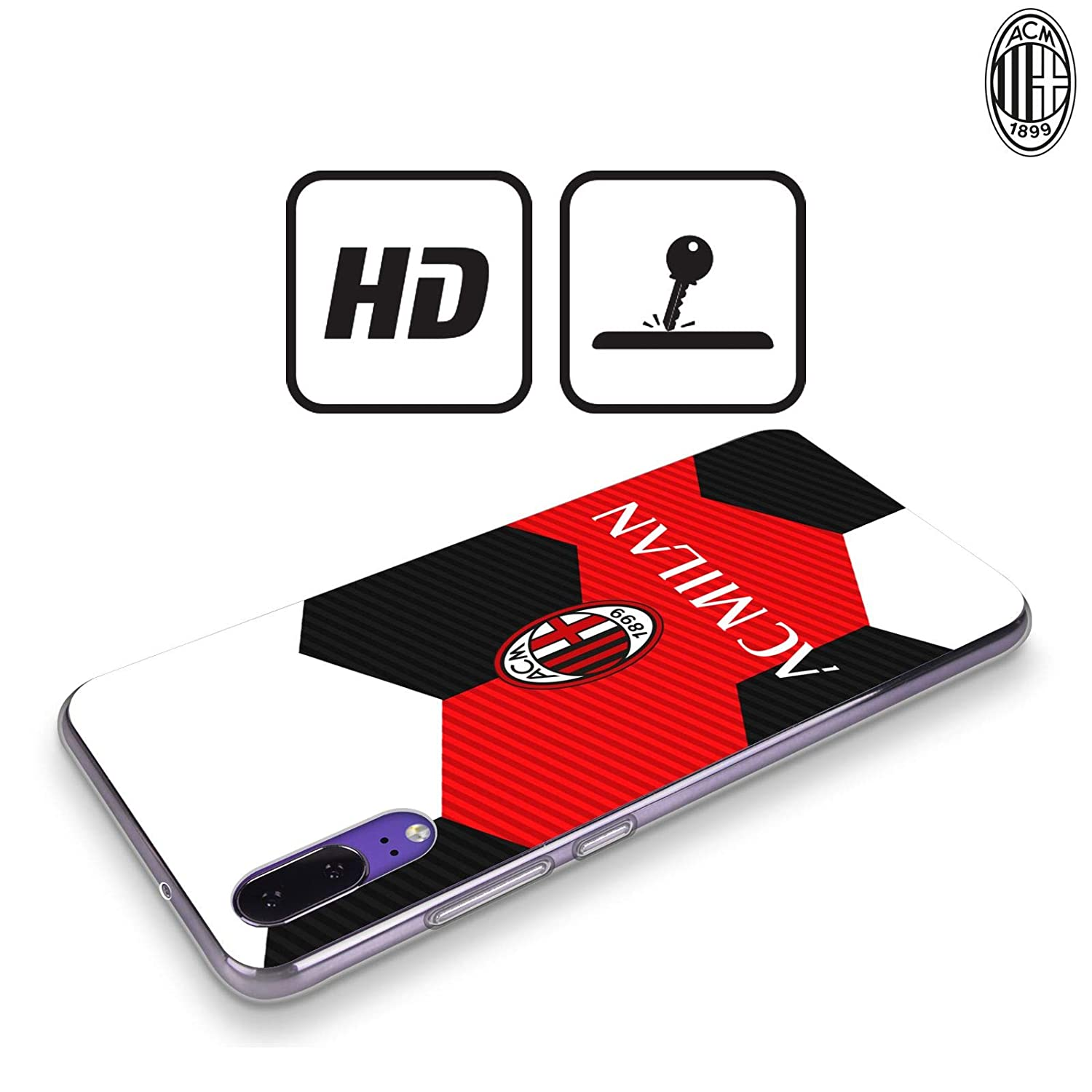 Amazon.com: Official AC Milan Ball 2018/19 Crest Soft Gel ...