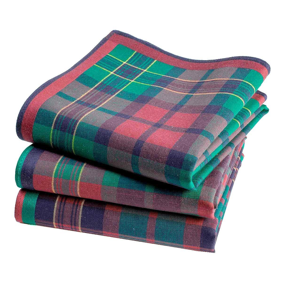 45cm x 45cm Mouchoirs /écossais /« Aberdeen /» 3 unit/és