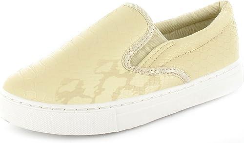 New Women/'s Ladies Girls Slip On Flat Skater Trainers Sneakers Croco Plimsolls