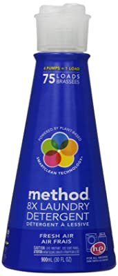 Method Naturally Derived 8X Concentrated Laundry Detergent Pump, Fresh Air, 75 Loads, 30 Ounce