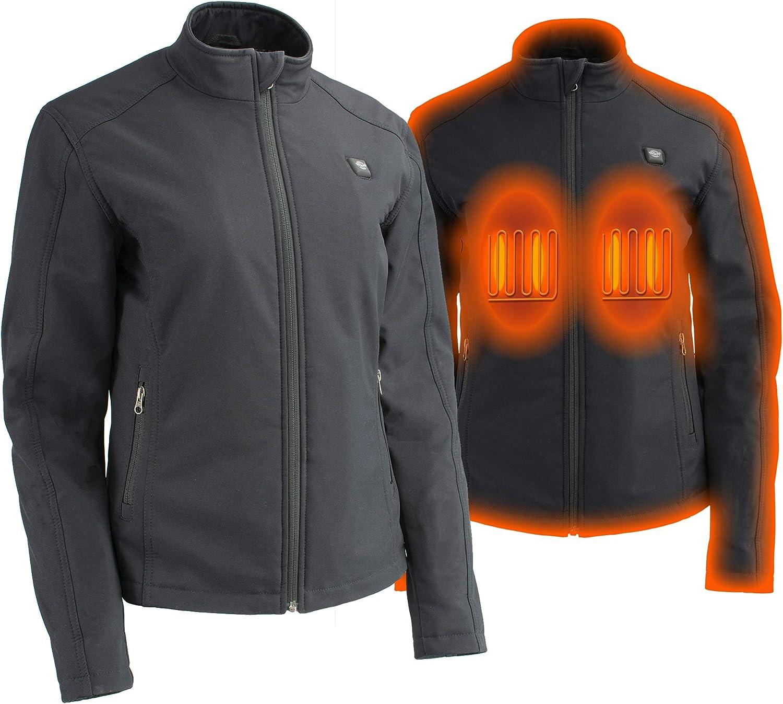 Milwaukee Performance Womens Waterproof Lightweight Zipper Front Soft Shell Jacket Black, 4X-Large