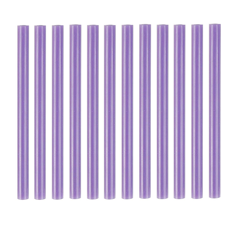 7 x 100mm Mini Hot Melt Adhesive Glue Stick for DIY Art Craft Clear HUIHUIBAO 12 PCS Colored Hot Glue Sticks