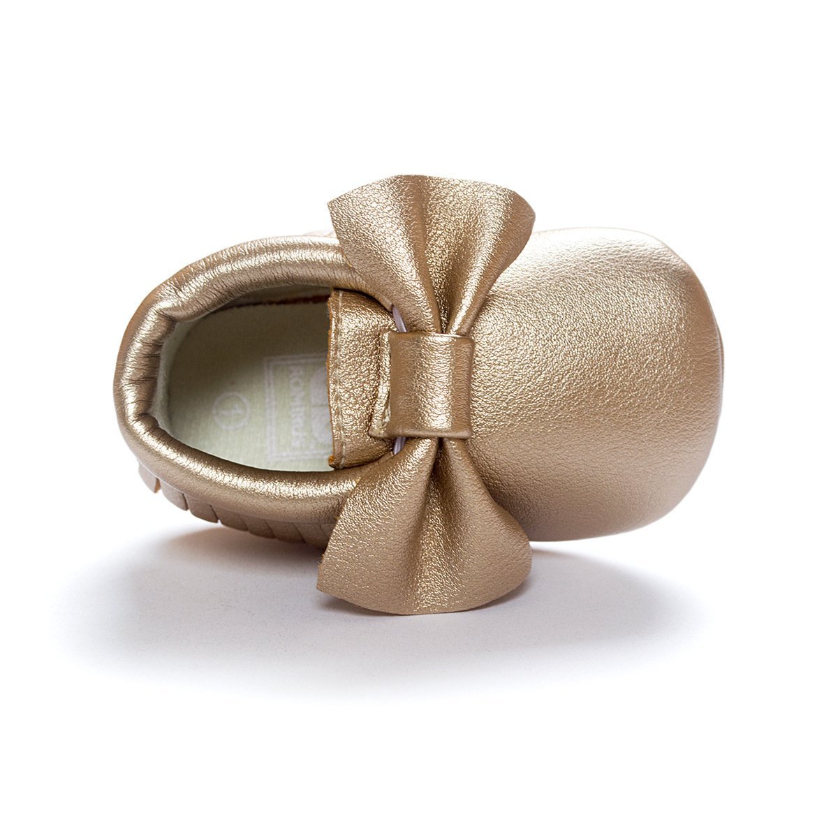 C&H Baby boy girl soft cute tassel bow tassels baby cot shoes baby shoes (11cm(0-6months), 5107 golden) by C&H (Image #2)