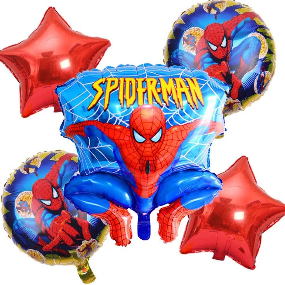WZRQQ 5 Unids/Lote Globo Spiderman Fiesta de Cumpleaños de ...