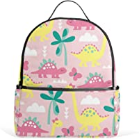 Mydaily Cute Dinosaur Doodle Backpack for Boys Girls School Bookbag