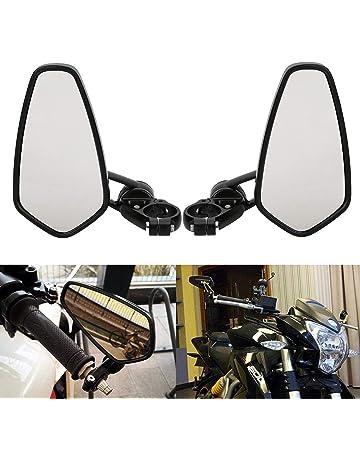 ViZe 10MM R/étroviseurs Lat/éraux Universel Miroir Arri/ère Moto pour Street Bikes Sport Bikes Racer Scooter