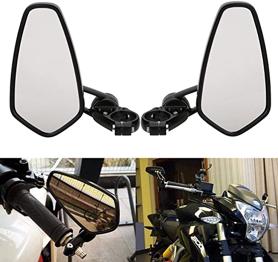 Ø22mm 7 8 Osan 2x Motorradspiegel Lenkerendenspiegel Universal Cnc Aluminum Auto