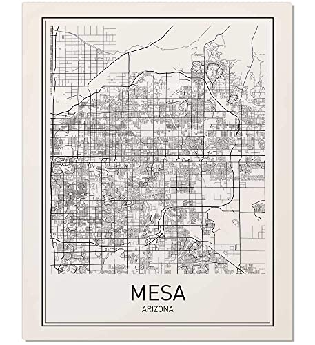 Mesa Poster, Map of Mesa, Mesa Map, City Map Posters, Modern Map Art, City  Prints, Mesa Arizona, Mesa Art, Minimal Print, Arizona Map, City Poster, ...