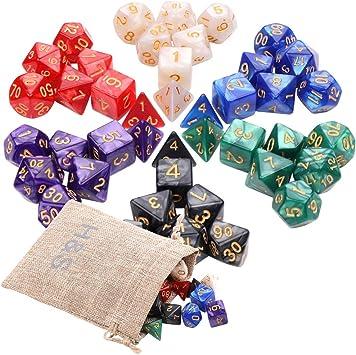 Sh! H&S Juego de Dados de Mazmorras y Dragones con 7 Caras poliédricas DND D&D RPG MTG (Juego de Mesa) Conjunto de 6: Amazon.es: Juguetes y juegos
