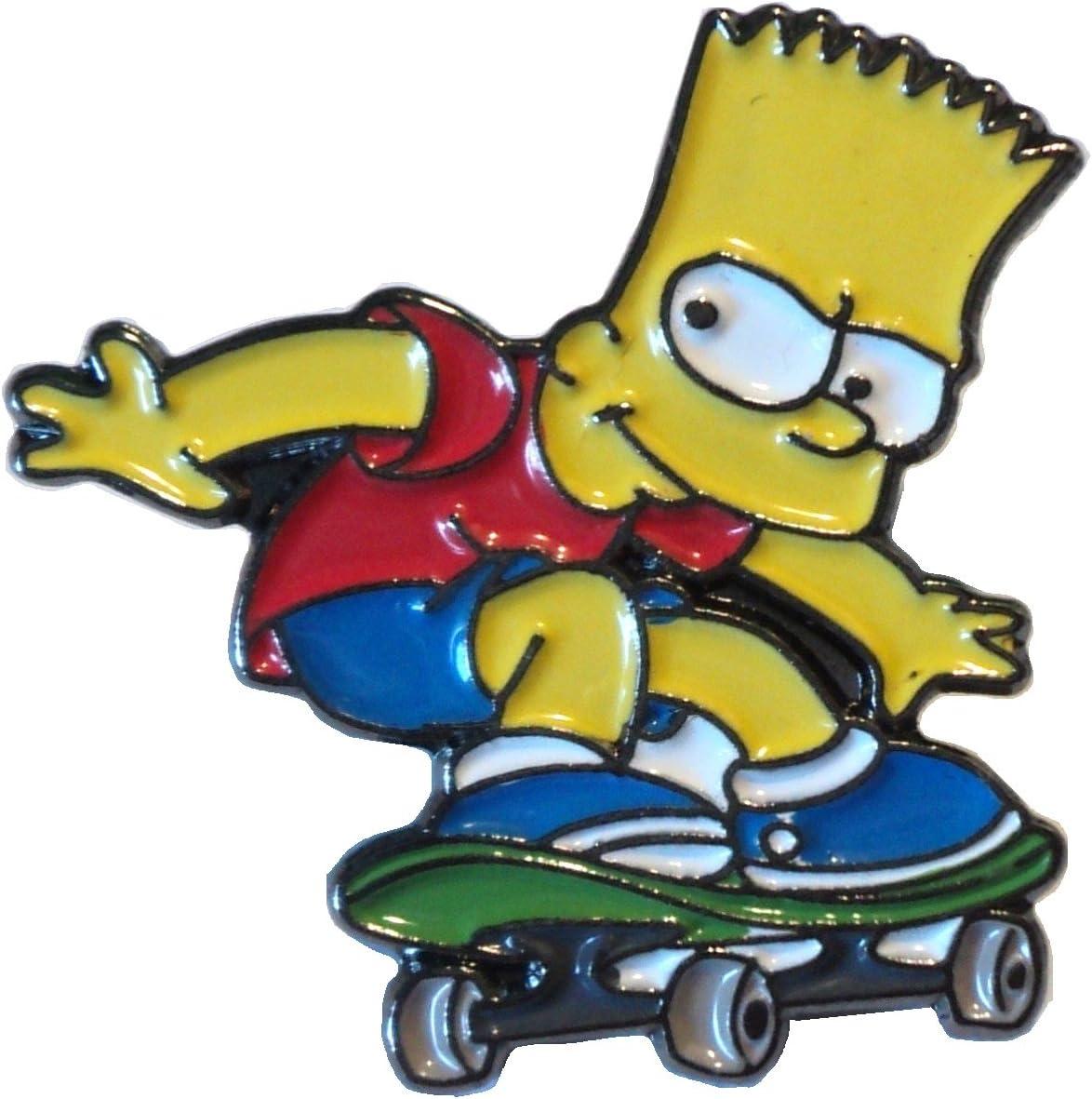 /émail Motif: Bart Simpson . Mainly Metal Broche en m/étal de la s/érie Simpsons TV
