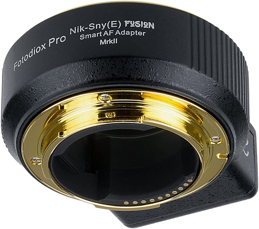 Fotodiox Pro Fusion Smart Adapter Mark II Compatible avec Les objectifs Nikon F-Mount G-Type pour s/électionner Sony Alpha E-Mount Mirrorless Camera Body