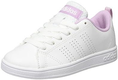 sale retailer 4dde9 59904 adidas Unisex Kids  Vs Advantage Clean K Gymnastics Shoes, Bianco  Ftwbla Orqcla,