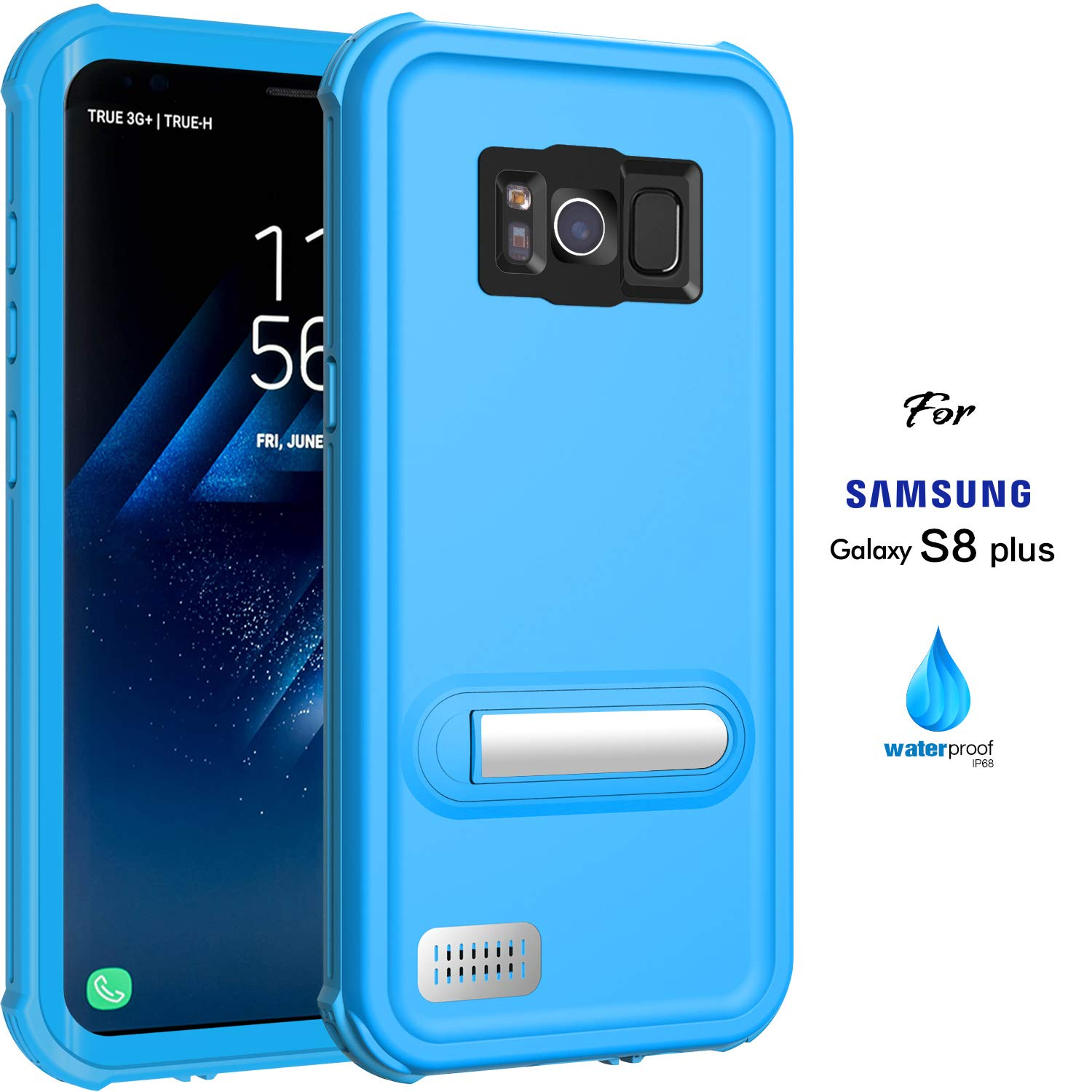 ASAKUKI Galaxy S8 Plus Waterproof Case - IP68 Certified Case, Full Body Protective, Shockproof, Scratch-Proof, Dustproof Case with Built-in Screen Protector for Samsung Galaxy S8 Plus - Black ASKS8P-OL
