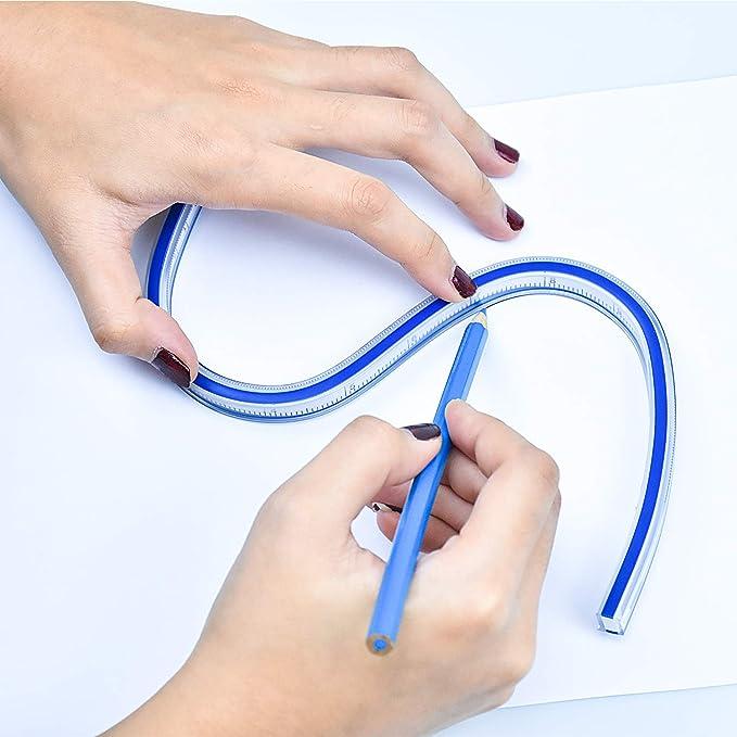 50cm R/ègle de courbe en plastique flexible Outil de tra/çage de tissu de manchon de dessin pour R/ègle de courbe flexible R/ègle de courbe en plastique Mesure de courbe de dessin de courbe