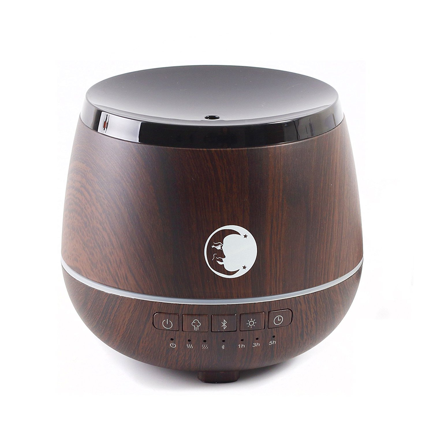 Mystic Moments | legno | aromaterapia ad ultrasuoni diffusore con altoparlante Bluetooth e luci LED