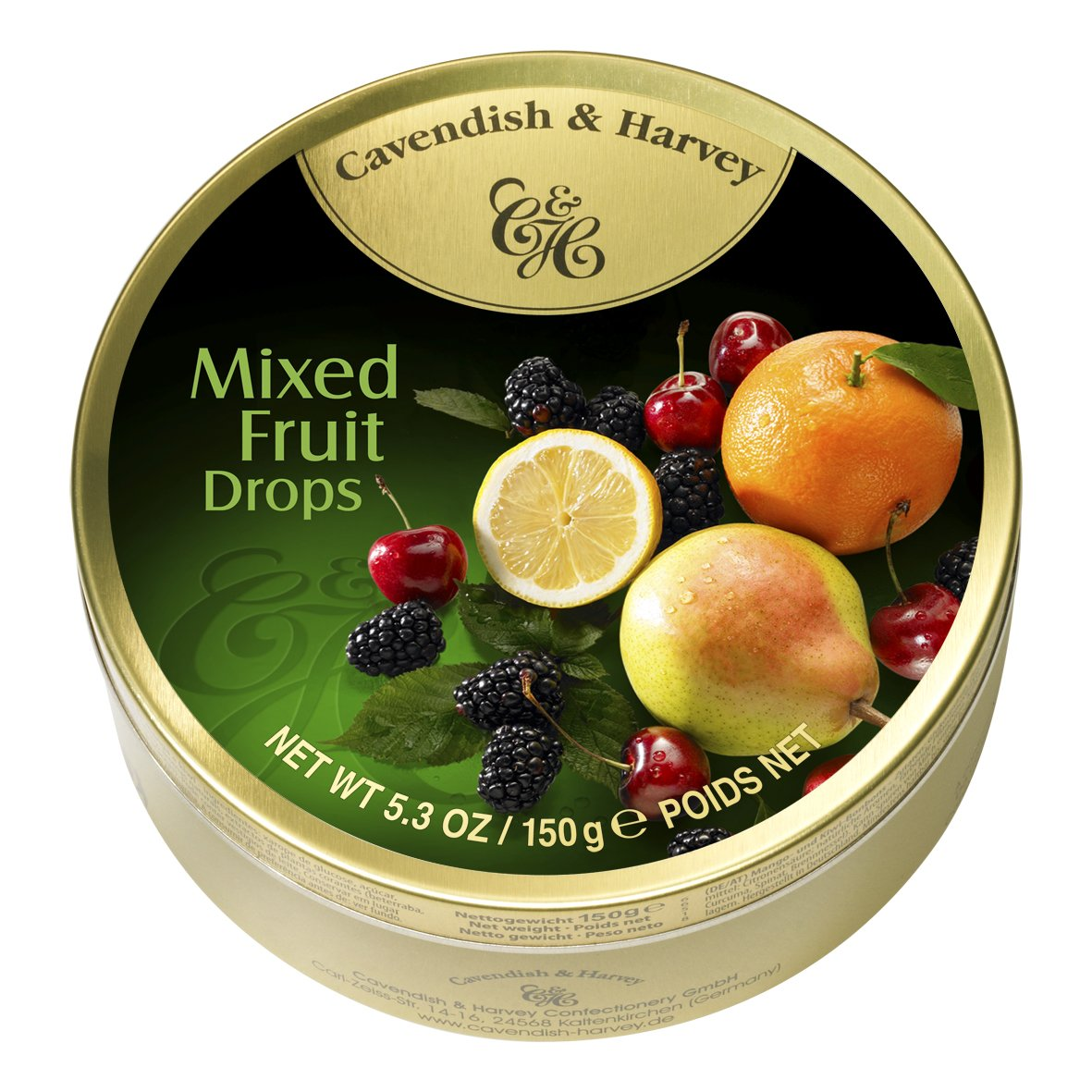 Cavendish & Harvey Mixed Candy Tin, Fruit, 5.3 Ounce (Pack of 12) by Cavendish