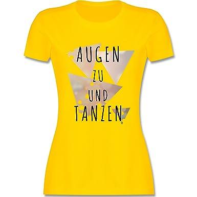 Festival - Augen Zu und Tanzen - S - Gelb - L191 - Damen T-