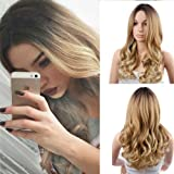 Blonde Long Curly Wig Heat Resistant Synthetic Cosplay Wig Full Wig for Women Party Wigs